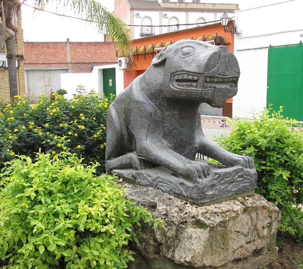Foto de la escultura de la leona
