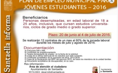 PLAN DE EMPLEO MUNICIPAL PARA JÓVENES ESTUDIANTES