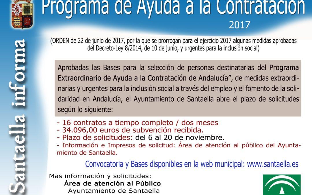 AYUDA A LA CONTRATACIÓN 2017