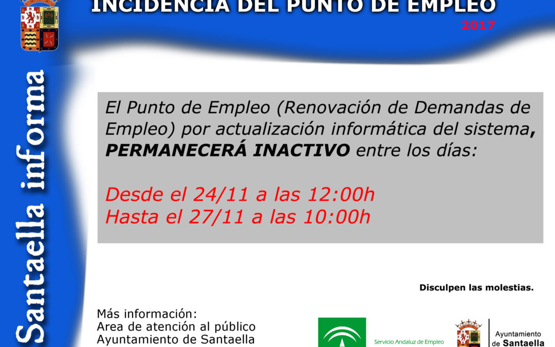 INCIDENCIA DEL PUNTO DE EMPLEO