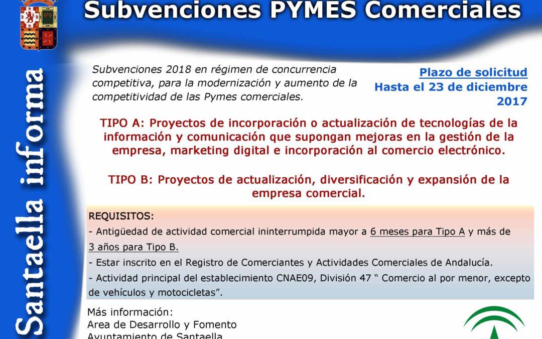 SUBVENCIONES PYMES COMERCIALES