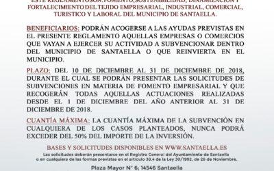 SUBVENCIONES MUNICIPALES PARA EL FOMENTO EMPRESARIAL