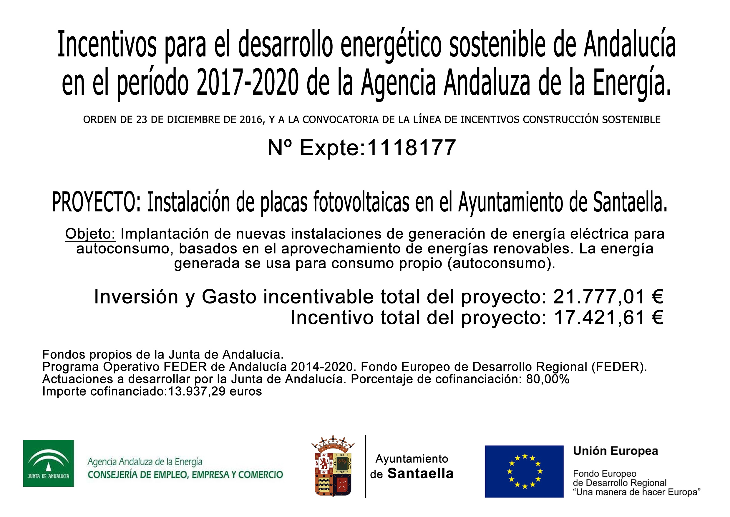 Cartel incentivos dearrollo energético sostenible expediente 1118177
