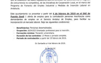 OFERTA DE EMPLEO MUNICIPAL