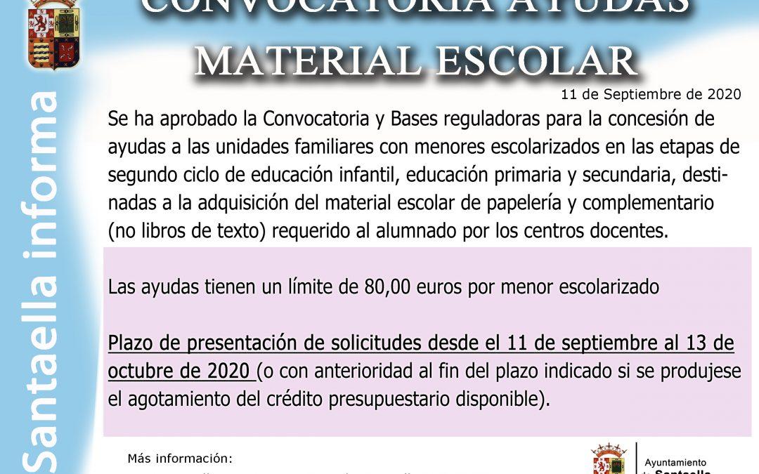 CONVOCATORIA AYUDAS MATERIAL ESCOLAR