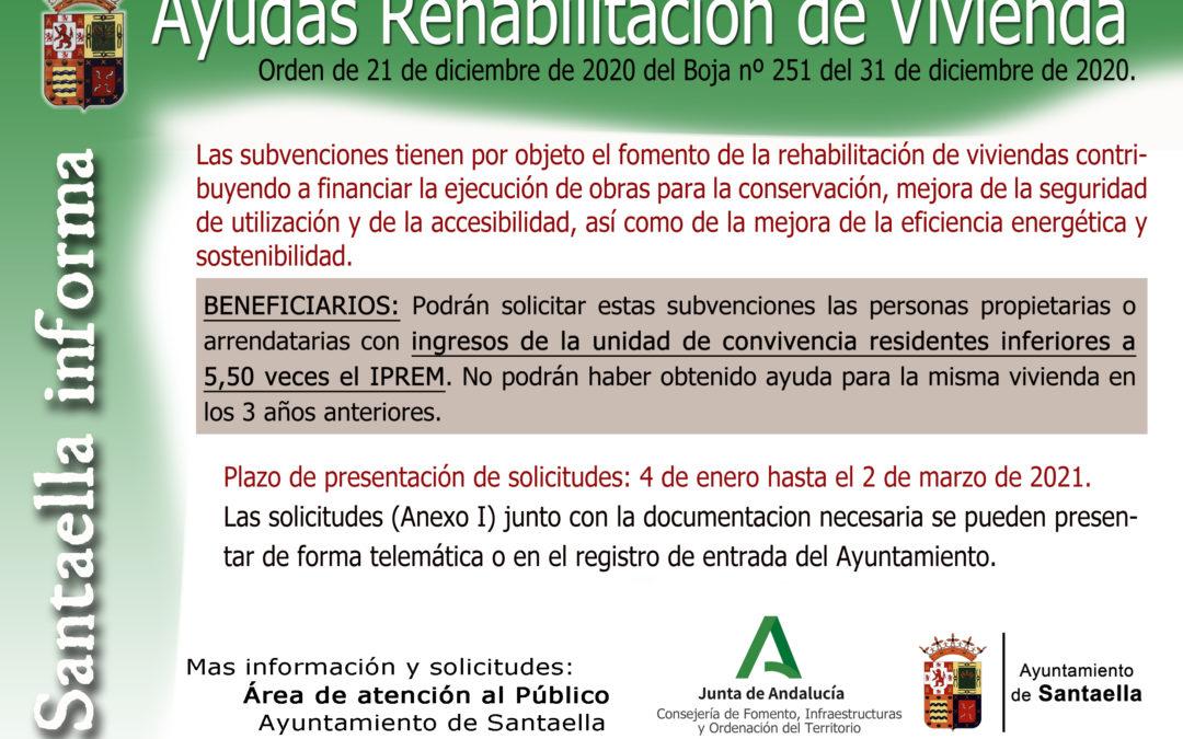 AYUDAS REHABILITACIÓN DE VIVIENDA