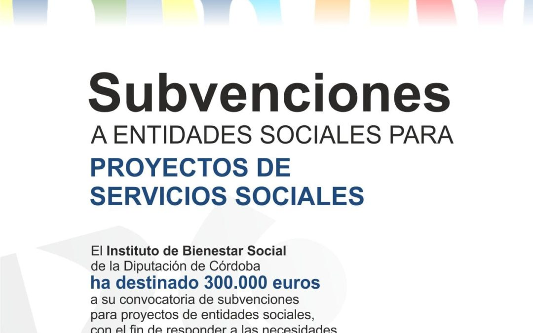 SUBVENCIONES A ENTIDADES SOCIALES PARA PROYECTOS DE SERVICIOS SOCIALES 2021