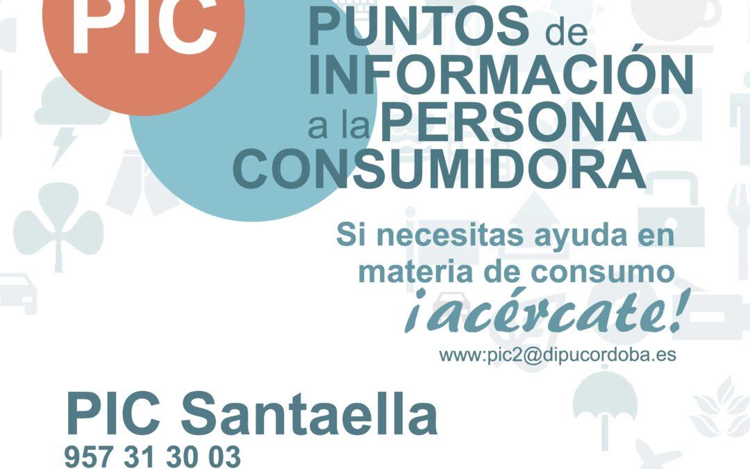 PUNTOS DE INFORMACIÓN A LA PERSONA CONSUMIDORA(PIC) EN SANTAELLA 2021