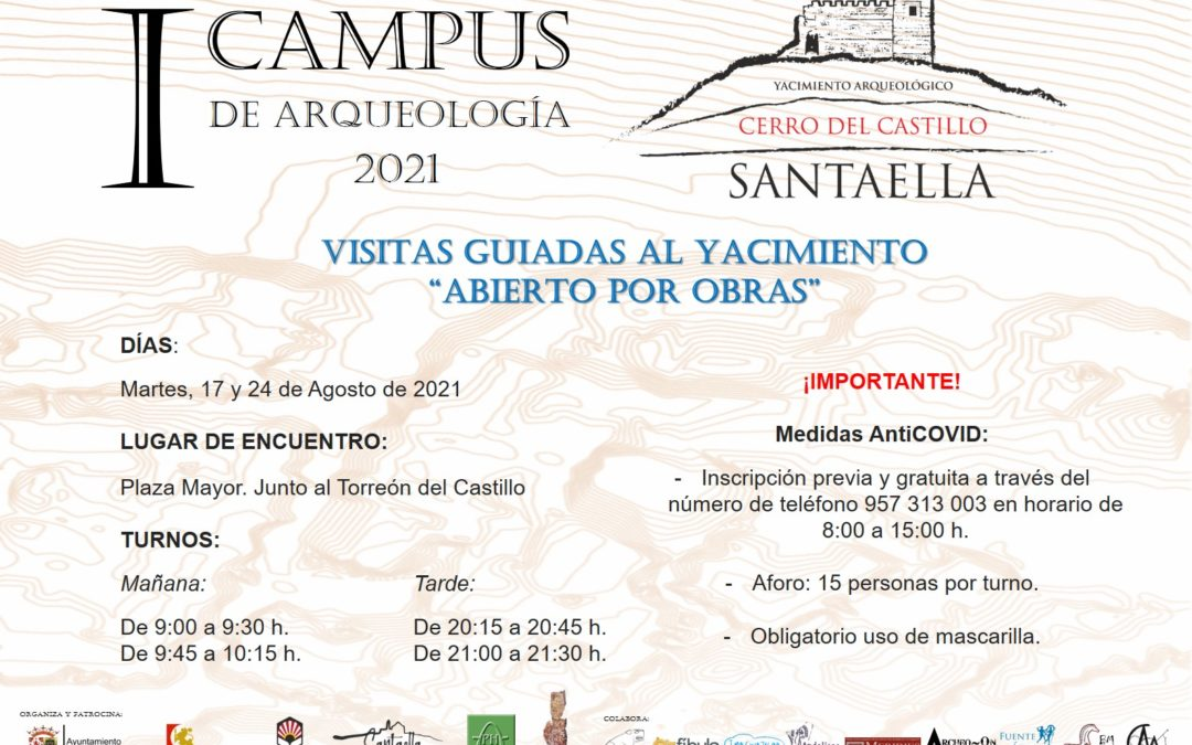 VISITAS GUIADAS AL YACIMIENTO «ABIERTO POR OBRAS» 2021