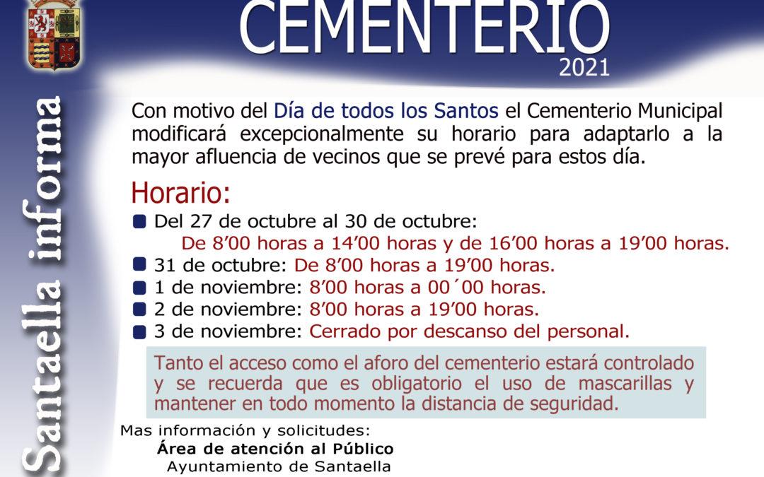 Horario Cementerio 2021